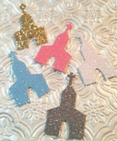 Wholesale Wholesale Church Decorations - Custom 150pcs glitter Church chapel confettis wedding table scatters Christmas bridal shower bachelorette party decorations Event