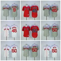 Unisex order field - Boston Red Sox Mens Jerseys Ted Williams Pedro Martinez Mookie Betts Flex Base On Field Baseball Jerseys S XL All Stiched Mix Order