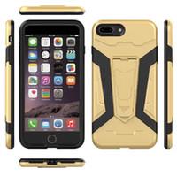 marca híbrida de iphone al por mayor-Nuevo estuche innovador Kickstand Hybrid para iPhone 6 6s Plus Carcasa Royce 360 Fundas protectoras para iPhone 7 7 Plus
