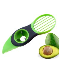 Wholesale Fruit Pitter - New Kitchen 3 In 1 Fruit Vegetable Tools Avocado Slicer Pitter Splitter Slices Kitchen Accessories Cooking Tools XL-G220