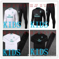 HAVE SPONSOR 2017 bambini Real Madrid survêtement football KIDS tute 2018 Ronaldo Long pants wear YOUTH kit completo giacca allenamento