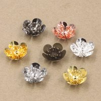 Wholesale Antique Copper Jewelry Findings - Wholesale- 50pc 6*16mm Alloy Flower Petals Charms Pendant Copper with Antique Bronze Silver Black Gold Plated ,DIY Handmade Jewelry Finding