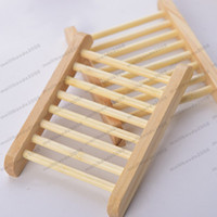 Wholesale wood flooring types online - Natural Wood Soap Dish Wooden Soap Tray Holder Storage Soap Rack Plate Box Container for Bath Shower Plate Bathroom MYY