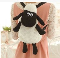Wholesale Bags School Sheep - Shaun the sheep plush school backpack bag toy doll 40CM