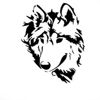 Wholesale Laptop Logo Stickers - Wholesale 10pcs lot Ferocious Animal Wolf Totem Logo Car Sticker for Motorhome Minicab Motorcycles Laptop Car Decor Waterproof Vinyl Decal