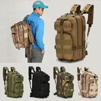 Wholesale Backpacks Army - 9 Color Unisex Outdoor Military Army 30L Tactical bag Trekking Travel Rucksack Backpack Camping Hiking Trekking Camouflage backpack