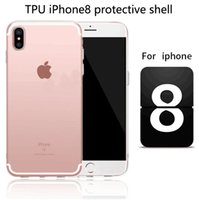 Wholesale Wholesale Iphone Blanks - For iphone 8 Clear Soft TPU Case Transparent Crystal Cover Silicone gel Blank Skin Cell phone Luxury Shell DHL free shipping