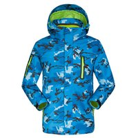 Wholesale Warm Children S Set - Wholesale- Dropshipping Minus 20 Degrees Children Outerwear Warm Coat Sporty Kids Clothes Set Waterproof Windproof Girls boys ski Jackets