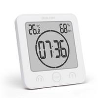 temporizadores de ducha al por mayor-Nuevo Digital Impermeable Ducha Soporte de pared Reloj Reloj Humedad Temperatura Temporizador