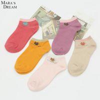 Wholesale Dream Socks - Mara's Dream 10Pairs lots 2016 Fashion Socks Wholesale Casual Women Sock Slippers Cartoon Little Cat Cotton Ankle Boat Socks