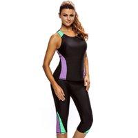 Wholesale Wetsuit 3xl - S,M,L,XL,XXL,XXXL 2pcs Active Bathing Suit Seaside Wetsuit plus size swimwear bikinis