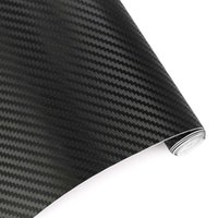 Wholesale Black Carbon Paper Sheets - Car Styling 60*500cm DIY Waterproof 3D Car Carbon Fiber Vinyl Wrapping Foil Sheet Roll Decorative Film Paper Auto Car Stickers