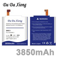 Wholesale Mi3 M3 - Da Da Xiong 3850mAh BM31 Battery for Xiaomi 3 M3 Mi3 Xiaomi3