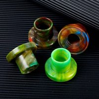 Topo de qualidade Cleito EXO Drip Tip Epoxy Resin Colorful E Cig Driptips Wide Bore Mouthpiece Cover For Cleito EXO Tank Atomizers Retail Package