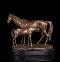 estatuas antiguas de caballos de bronce al por mayor-Vintage ARTES ARTESANAS ATLIE Bronces Estilos Clásicos Esculturas de latón antiguo Caballo y yegua Caballos Estatuas Decoración del hogar de la vendimia