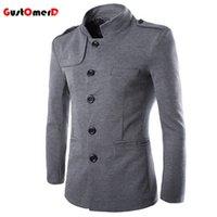 Wholesale Chinese Fashion Tunic - Wholesale- 2016 Hot Sale New Spring Simple Retro Fashion Chinese Tunic Men's Jackets Coats Slim Multi-pocket Men Jacket Casaco Masculino