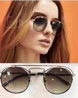 Donne Occhiali da sole Spektre Coral Occhiali da sole Gold / Black Brown Gradient 50mm Sunglass Luxury Brand Retro Round Occhiali da sole Nuovo con custodia