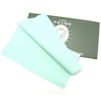 Wholesale Jewelry Cleaning Cloths Free Shipping - 10pcs lot Silver Jewelry Cleaning Polishing Cloth For 925 Silver Jewelry Gift 17x17cm CL3 Free Shipping