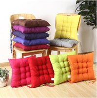 Wholesale Outdoor Seat Cushions Wholesale - 40*40cm Indoor Outdoor Garden Solid Cushion Pillow Patio Home Kitchen Office Car Sofa Chair Seat Soft Cushion Pad CCA6775 50pcs