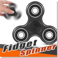 Wholesale Science Sale - Ship in 2 Days 2017 hot sale Fidget Spinner Hand Spinner Tri Fidget Ceramic Ball Desk Focus Toy EDC For Killing Time For Kids Adults via DHL