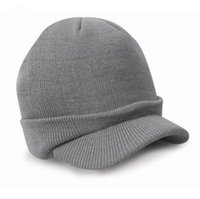 Wholesale men stylish wool hats - Wholesale-Newly Stylish Fashion Esco Peaked Army Beanie Hat Warm Wooly Winter Mens Ladies Cadet Ski Cap With 7 Colors No8