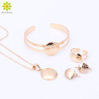 Wholesale baby children earrings for sale - Group buy Children Gold Plated Pendant Necklace Earrings Bracelet Ring Children Birthday Party Baby Gift Kid Jewelry Sets