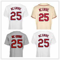 Wholesale Marks Shirts - Discount Mark McGwire Jersey 2017 2018 #25 Authentic McGwire Baseball Jerseys Embroidery Stitched Onfield Home Men's Sport Shirts