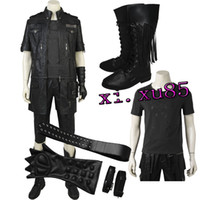Wholesale Custom Music Shirts - High Quality Noctis Lucis From Final Fantas FF15 Cospaly Costume Hot Game Jacket Pant Shirt Gloves Belt with Boots Custom Made