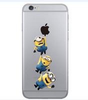Wholesale Despicable Tpu - Fashion Cute Despicable Me Minions Stitch case for iphone 5 5s 5c 6 6s 6plus 6s plus 7 7plus soft transparent Case cover