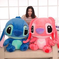 Wholesale Pillow Toy Stitch - 100cm Japan Anime Stitch Toy Huge Soft Plush Cartoon Stitch Pillow Doll Kids Present Gift Free Shipping