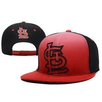 Wholesale Cheap Wholesale Flats For Women - Louis Cardinals Team Sports SL Snapback Red Flat Caps Hottest Baseball Caps Cheap Adjustable Hat for Men Women Summer Caps