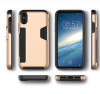Wholesale Protection Bar - For iPhone X anti knock mobile phone protection cover For IPHONE X with inserted bank bayonet 360° shockproof phone case DHL free