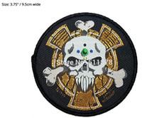 Wholesale Marine Badge - Space Marine Crux Terminatus Sergeant Badge Warhammer 40k Animated Movie TV Series Costume Woven Emblem applique iron on patch