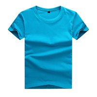 Wholesale Girls Plain Shirts - 2017 Summer Top quality boys girls plain red t shirt for kids toddler big boy clothing children cotton children t shirt Soft and comfortable