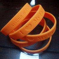 Wholesale Popular Silicone Wristbands - Popular Silicone Wristband For Adults Gift Silica Gel Bracelets I Love My Father Thailand King Bracelet High Quality 0 38gd B R