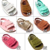 Wholesale baby moccasins girls resale online - Summer baby moccasins Tassels kids baby shoes kids sandals first walker shoes boys girls shoes new designed Multy Color