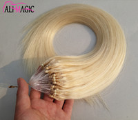 Remy Micro Loop Hair Extensions Cheap Human Platinum Blonde Brazilian Straight Hair Atacado 1g 100s Micro Loop Free Extensions