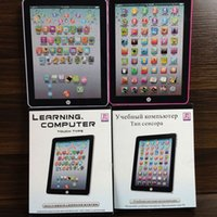 Wholesale English Ipad Toy - Children Learning Reading Machine Kids Touch Screen IPad English Learning Laptop Computer Mini Education Toys Free DHL 418