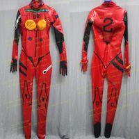 Wholesale Evangelion Set - Hero Catcher Custom Made Neon Genesis Evangelion EVA Cosplay Costume Asuka Langley Soryu Cosplay Costume Spandex Suit Set#2