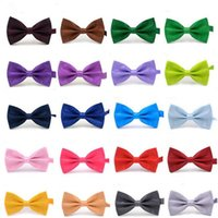Wholesale wholesale women bowties - Bow Ties for Weddings High Quality Fashion Man And Women Neckties Mens Bow Ties Leisure Neckwear Bowties Adult Wedding Bow Tie DHL Free