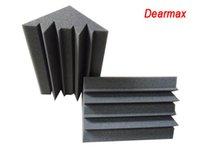 Wholesale Wholesale Traps - 12 x 12 x 24 cm - Charcoal Bass Trap Acoustic Foam Soundproofing Studio Foam Corner Wall