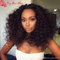 Wholesale brazillian wigs - Short Curly Lace Front Wigs With Baby Hair Cheap Brazillian Curly Hair Wigs Bleached Knots Glueless Curly Hair Wig For Black Women