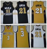 3cf7649a123 Basketball Men Sleeveless Sale Retro College Basketball Jerseys Wake Forest  Demon Deacons  21 Tim Duncan