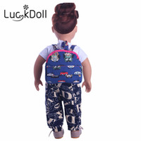 Wholesale American Girl Doll Patterns - luck doll New style of two colors cartoon pattern of small backpack for 18 inch American girl doll accessories, the best gift