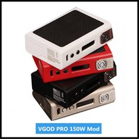 Wholesale E Cigarettes Charging Vape - Original VGOD Pro 150W Mod E-cigarette Vape 150W TC Box Mod with OLED Display Needed Dual 18650 Battery Micro USB Charging