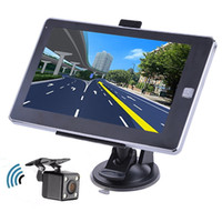 Wholesale Gps Car Wireless Rear Camera - HD 7 inch Bluetooth Hands Free Vehicle Car GPS Navigation With 8GB Free Maps 800Mhz+Waterproof Wireless Night Vision Rear View Camera