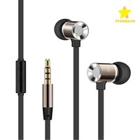 Wholesale Earphones Heavy Bass - In-ear Earphone Headphone 1.2M 3.5MM Metal Earphone Heavy Bass Noise Cancelling Audio In-ear Hands Free With Retail Box