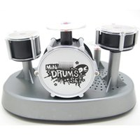 Wholesale Musical Lights For Christmas - Christmas Gifts Mini Finger Drum Set Musical Toy Touch Drumming LED Light Jazz Percussion For Kids Children Musical Instruments