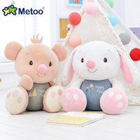 Wholesale Stuffed Bear Ornaments - Metoo Big Feet Plush Doll Cute Rabbit Bear Figure Toys for Boys Girls Soft Feeling Stuffed Dolls Toy for Baby Kids Gift Ornament