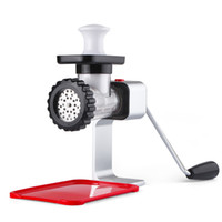 Wholesale sausage machines - Meat Grinder Manual Mincer Machine Pork Beef Peanut Grinder Sausage Maker with Red Plastic Plate Kitchen Accessories